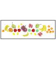 Pattern a set fresh fruits vegan