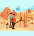 people relax and walking in urban park vector image vector image