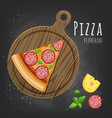 pepperoni pizza slice vector image vector image