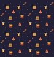 pixel art food background vector image vector image
