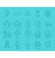 Plastic surgery thin line art icons Medical vector image vector image
