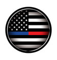 police and firefighter american flag emblem vector image vector image
