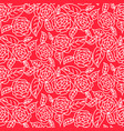 red line roses floral pattern seamless vector image vector image