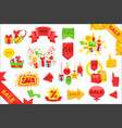 sale stickers and banners templates set bright vector image