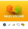 Sales volume icon in different style vector image vector image