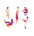 set athletes people lead a healthy and active vector image vector image