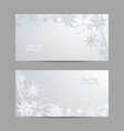 set horizontal banners with winter pattern vector image vector image