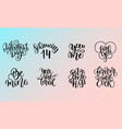 set of lettering quotes about love and vector image vector image