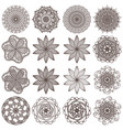 set of mandalas isolated on white vector image vector image