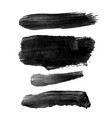set with black abstract stain isolated on white vector image vector image