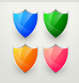 shiny colorful badges set vector image vector image