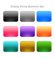 shiny glossy empty buttons set vector image vector image