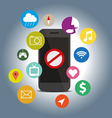 Signes icon do not with function mobile phone vector image vector image