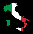 silhouette country borders map of italy on vector image