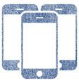 smartphones fabric textured icon vector image vector image