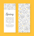 spring flowers card template save date vector image vector image