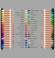 study well known artistic colors vector image vector image
