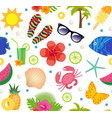 summertime seamless pattern bright summer vector image