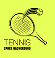 tennis outline yellow silhouette background vector image vector image