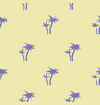tropical blue palm trees seamless pattern vector image