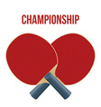 Two Rackets for playing table tennis isolated on vector image vector image