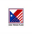 usa texas flag vector image vector image