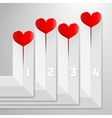 Valentines Day infographics with hearts on vector image vector image