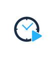 video time logo icon design vector image vector image