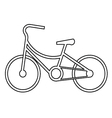 vintage bicycle symbol vector image vector image