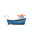 vintage fishing trawler isolated on white icon vector image vector image
