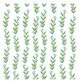 watercolor pattern with olive branches vector image vector image