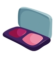 Blusher icon cartoon style vector image