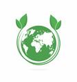 ecology logo eco world symbol icon eco friendly vector image