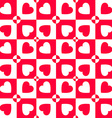 Valentines day pattern with hearts Paper for vector image