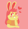 Bunny Girl in Love vector image