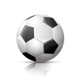 Soccer ball football icon vector image
