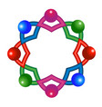 abstract atomic molecular team vector image