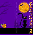 background with castle bat moon pumpkin black vector image vector image