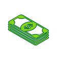bank note dollar sign lemon scribble icon vector image