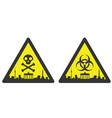 berlin danger emergency biological hazard signs vector image