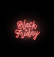 black friday sale background luminous light red vector image