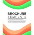 brochure template design background collection vector image