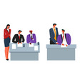 business agreement people signing contract vector image