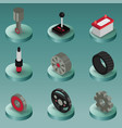 car part color isometric icons vector image vector image