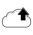 cloud computing technology symbol vector image vector image