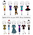 Collection of sheep Fashionable characters Symbol vector image vector image
