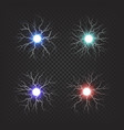 colorful fireballs isolated set vector image vector image