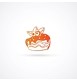 Cupcake icon isolated vector image