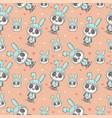cute bapanda cartoon seamless pattern vector image