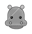cute hippo cartoon animal wildlife baby vector image